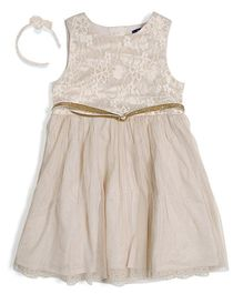 Nauti Nati Pixie Dust Lace Partywear Dress With Hairband