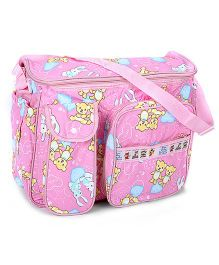 Duck Mother Bag Pink - Cutie Bear And Cutie Rabbit Print