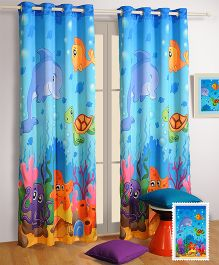 Swayam Digitally Printed Kids Long Door Curtain With Eyelet