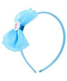 Barbie hair Band Light Blue - Bow Applique