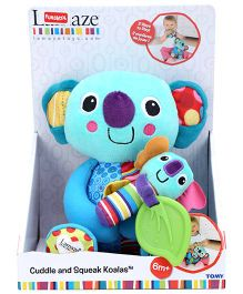 Lamaze Funskool Soft Toy Cuddle And Squeak Koalas - Blue