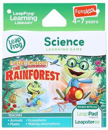 Leap Frog Science Letter Factory Adventures The Rain Forest - English