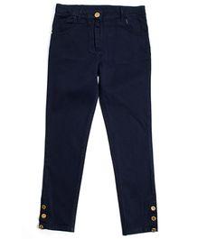 Nauti Nati Embellished Cuff Chinos - Navy Blue