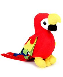IR Car Hanging Parrot Soft Toy Red - Length 22.5 cm