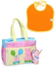 Duck Diaper Bag With Bottle Cover And Bib - Rabbit Patch