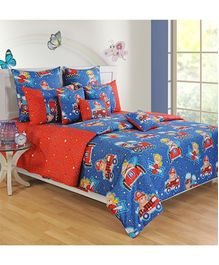 Swayam Printed Kids Double Bed Sheet - 3 Piece Set