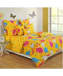 Swayam Printed Kids Single Bed Sheet - 2 Piece Set