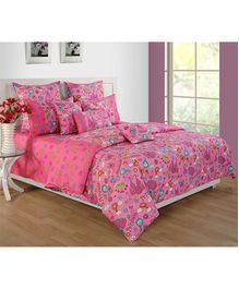 Swayam Printed Kids Double Bed Sheet - 3 Piece Set