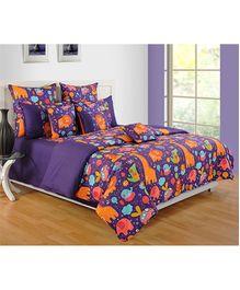 Swayam Printed Kids Single Bed Sheet - 2 Piece Set
