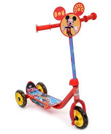 Disney Mickey Mouse And Friends Three Wheeler Scooter - Red And Yellow