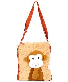 IR Soft Fur Shoulder Bag Monkey Applique (Color May Vary)