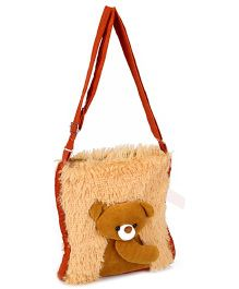 IR Soft Fur Shoulder Bag - Teddy Applique