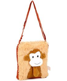 IR Soft Fur Shoulder Bag - Monkey Applique