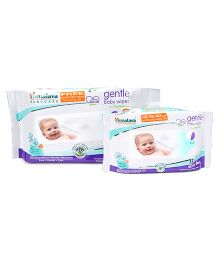Himalaya Herbal Gentle Baby Wipes - 72 Pieces + 12 Free