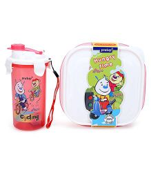 Pratap Hungry Time Lunch Box Kit - pink
