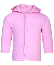 Child World Full Sleeves Hooded Vest - Pink