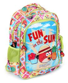 Angry Birds School Bag Fun In The Sun Print - 14 Inches