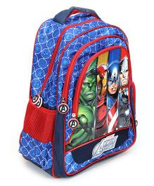 Avengers Group Art Faces School Blue - 16 Inches