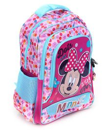 Minnie Mouse School Bag Printed Pink And Blue - 17 Inches