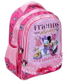 Minnie Mouse School Bag Friends Print Light Pink - 16 Inches