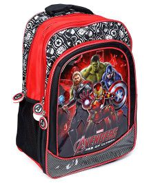 Marvel Avengers Printed School Bag Red And Black - 16 Inches