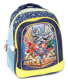 Justice League School Bag Blue And Yellow - 13 Inches