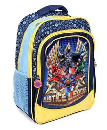 Justice League School Bag Blue And Yellow - 16 Inches