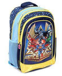 Justice League School Bag Blue And Yellow - 17 Inches
