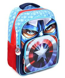 Captain America School Bag Sky Blue - 16 Inches