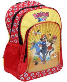 Pokemon Printed School Bag Yellow - 15 Inches