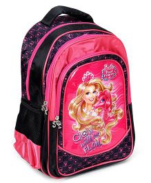 Barbie Backpack The Pearl Princess Pink And Black - 16 Inches
