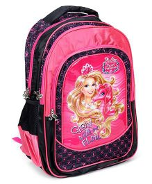 Barbie Backpack The Pearl Princess Pink And Black - 18 Inches