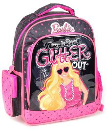 Barbie Glitter Backpack Pink - 14 Inches