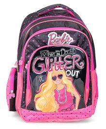 Barbie Glitter Backpack Pink - 18 Inches