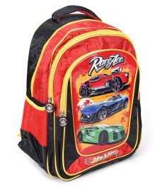 Hotwheels School Bag Red And Yellow - 16 Inches