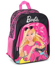 Barbie Printed Backpack Pink And Black - 16 Inches