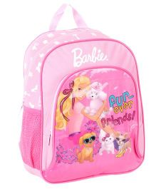 Barbie Pink Backpack Friends Print - 14 Inches