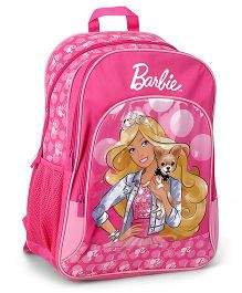 Barbie Printed Backpack Pink - 18 Inches