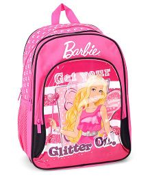 Barbie Pink Backpack Printed - 16 Inches