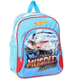 Hotwheels School Bag Blue - 14 Inches