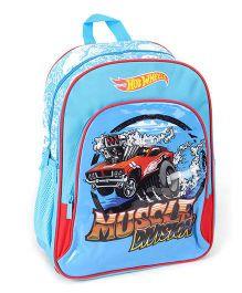 Hotwheels School Bag Blue - 16 Inches