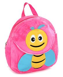 Fab N Funky Pink Plush Bag Bee Design - 11 Inches