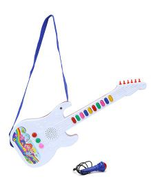 Prasid Mini Guitar With Mic - White And Red