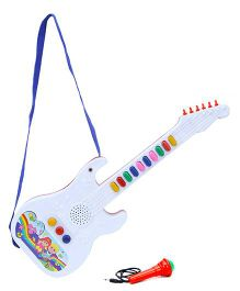 Prasid Mini Guitar With Mic - White And Blue