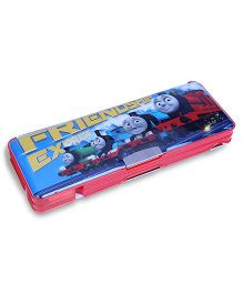 Thomas And Friends Magnetic Pencil Box With Side Compartment - Blue And Red
