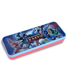 Justice League Double Decker Pencil Box - Blue And Red