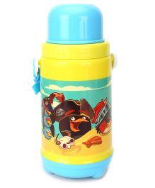 Angry Birds Insulated Water Bottle With Cup - Blue And Yellow