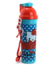 Hello Kitty Water Bottle Red and Blue - 700 ml