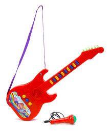Prasid Mini Guitar With Mic - Red