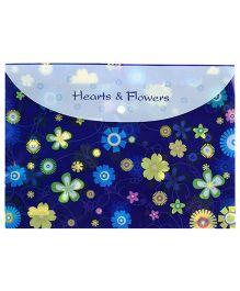 Fab N Funky Envelope Folder Blue - Floral Design